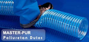 High quality polyurethane hoses ideal for material handling and dust collection